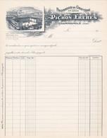 39 CHAMPAGNOLE FACTURE FROMAGE De GRUYERE PICHON Fromages - X111 JURA - 1900 – 1949