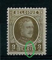 N° 191 Houyoux (**) Point Rouge Dans Le I De Belgie - Curiosa