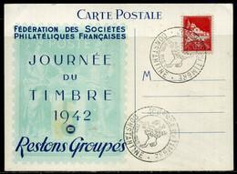 Algérie  Oblitération  Journée Du Timbre 1942   Constantine - Briefe U. Dokumente