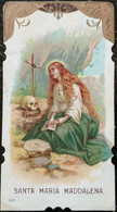 "Antico Santino - Holy Card "" SANTA MARIA MADDALENA ""  Cromo , Ed. Salvardi 2807 - Devotion Images"