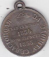 RUSSIA, UKRAINA  -  SIEGE OF SEVASTOPOL -  CRIMEAN WAR -  KRIM KRIEG  --  MEDAL ,, ZA ZASITU SEVASTOPOLA  1854 / 1855 ,, - Avant 1871