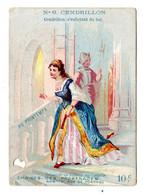 Rare Chromo Ticket De Chaise, Cendrillon, Imp. Bouillon - Rivoyre, Au Printemps - Ohne Zuordnung