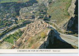 Entrevaux Belle Vue Aérienne Du Village Chemins De Fer De Provence - Andere Gemeenten