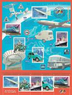 Le Siècle Au Fil Du Timbre : Transports Et Voyages ** (Concorde TGV Le France Mobylette 2CV) - Neufs