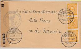 All.Bes./Kontrollrat - 3x25 Pfg. Ziffer Zensurbrief I.d. SCHWEIZ Katzhütte 1946 - Zone AAS
