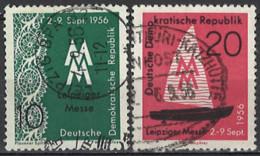 DDR 1956. Mi.Nr. 536-537, Used O - Oblitérés