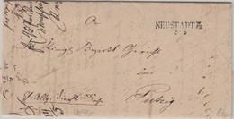 Preussen - Neustadt WPr 8/5 L2 Dienstbrief N. Putzig 1849 - Mit Inhalt - Pruisen
