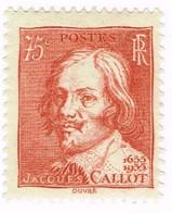 France, N°306 Tricentenaire De La Mort Du Graveur Jacques Callot - Neufs