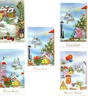5 Petite Carte- Kleine Kaartjes Reliëf - Nouvel An