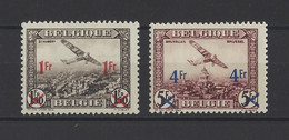 BELGIQUE.  YT  PA N° 6/7  Neuf **  1935 - Poste Aérienne