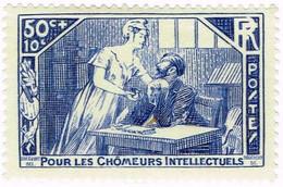 France, N°307 Au Profit Des Chômeursintellectuels - Neufs
