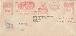E M A Illustrée De COMAX / Buenos Aires + Vignette D'affranchissement Pour La France. (rare Ainsi Complet Et TTB) - Briefe U. Dokumente