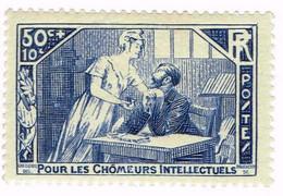 France, N°307 Au Profit Des Chômeurs Intellectuels - Neufs