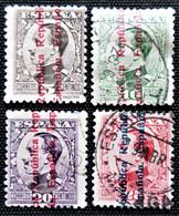 Alfonso XIII Edifil N° 594_595_597_598 - Oblitérés