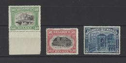 BELGIQUE.  YT  N° 143-144-148  Neuf **  1915 - 1915-1920 Albert I
