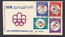 FDC JEUX OLYMPIQUES DE MONTREAL 1976. - Maroc (1956-...)