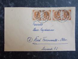 1952 DEUTSCHLAND Brief BREMEN HEMELINGEN Nach BAD FRIEDENWALDE - Lettres & Documents