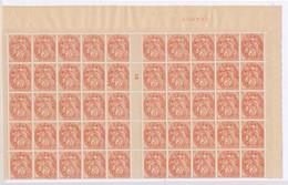 DX-715: FRANCE: Lot Avec N°109** Tiers De Feuille Millésime 5 - 1900-29 Blanc