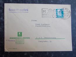 1953 DEUTSCHLAND Brief LEIPZIG BPA32  Nach BAD FREIENWALDE - Lettres & Documents