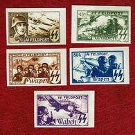1943 NAZI Germany Belgium Legion Unissued Set Not Dentelee MNH*** - Occupation 1938-45
