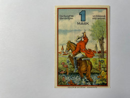Allemagne Notgeld Rinteln 1 Mark - Collezioni