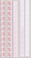 DX-716: FRANCE: Lot Avec 5 Roulettes N°114**avec Piquage à Cheval (5 Timbres Sans N° Au Verso)-imp Partielle Et à Sec... - Varieties: 2010-.. Mint/hinged