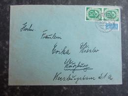 1954 DEUTSCHLAND Brief Würzburg - 1 Paar Posthorn - Notopfer Berlin - Lettres & Documents