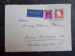 1954 DEUTSCHLAND Brief BONN Nach BERLIN LICHTERFELDE - Posthorn - St.Bonifatius - Lettres & Documents