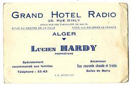 ALGER  GRAND HOTEL RADIO  LUCIEN HARDY  -  BRISTOL PUBLICITAIRE - Otros