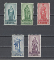 BELGIQUE.  YT  N° 751/755   Neuf **   1947 - Neufs