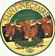 Rare Grande  étiquette 19.5 Cm  Fromage Saint-Nectaire Chanteloube - Cheese