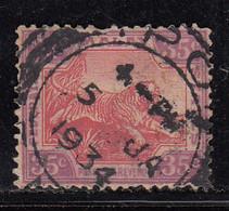 35c Used 1922, Federated Malay States, Wmk Multi Script, Tiger Animal,  Malaya / Malaysia - Federated Malay States