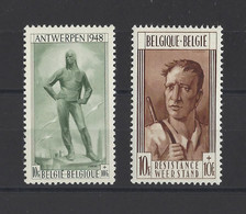 BELGIQUE.  YT  N° 785-786   Neuf **   1948 - Neufs