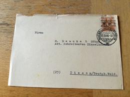 K17 Alliierte Besetzung 1948 Briefvorderseite Von Bad Mergentheim - Zone Anglo-Américaine