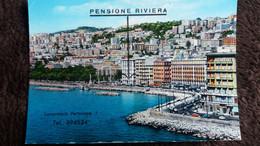 CPSM NAPOLI NAPLES ITALIE CARACCIOLO STREET RUE PENSION PENSIONE RIVIERA - Hoteles & Restaurantes