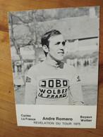 Cyclisme - Carte Publicitaire JOBO WOLBER LA FRANCE : ROMERO - Ciclismo