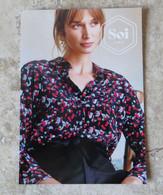CPM Carte Publicitaire Mode Femme SOI Paris Chemisier Imprimé Verre De Vin Rouge De Bordeaux - Fashion