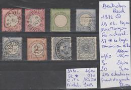 TIMBRES D ALLEMAGNE DEUTSCHES REICH NEUF * /OBLITEREES 1872 Nr VOIR SUR PAPIER AVEC TIMBRES   COTE 157.70 € - Oblitérés