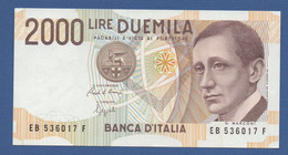 ITALY - P.115 – 2.000 LIRE 1990 -  SPL - Serie EB-F - 2000 Lire