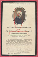 Orchamps Vennes Doubs: Faire Part Décès De L'Abbé Constant Moyse 1919 Né à Goux-les-Uziers / Thème Religion - Généalogie - Other Municipalities