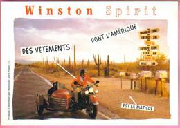 "Carte Postale ""Cart'Com"" - Série Magasins, Boutiques De Mode - Winston Spirit (moto Side-car) - Fashion"