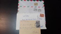 Portugal - Cavaleiro Medieval - 4 Cartas Circuladas - Briefe U. Dokumente