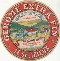 Rare Grande étiquette 18 Cm  Fromage Géromé Extra Fin Le Délicieux - Cheese