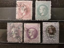 SERBIE - 1869/1903 Lot 5 Timbres (voir Détail Et 2 Scan) - Serbien