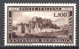 Italia Repubblica 1949 Repubblica Romana Sass.600 **/MNH VF - 1946-60: Mint/hinged