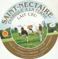 Rare Grande étiquette 19 Cm   Fromage Saint-Nectaire - Cheese