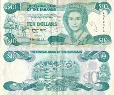 Bahamas / 10 Dollars / 1974 / P-46(b) / VF - Bahamas