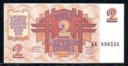 329-Lettonie 2 Rubli 1992 KK896 - Latvia