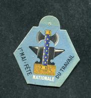 """WW2 - Rare Médaille En Carton """"Journée 1er Mai - Fête Nationale Du Travail - Etat Français - Maréchal Pétain"""" WWII - 1939-45"""