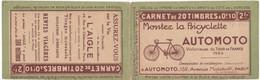 23123# CARNET DE 20 TIMBRES A 0,10 VIDE S 49 BICYCLETTE AUTOMOTO ASSUREZ VOUS L'AIGLE APPAREIL MONOBLOC - Usage Courant